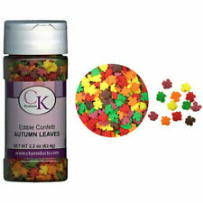 Autumn Leaves Edible Confetti Sprinkles 2.2 oz  11313