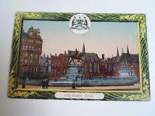 G49 Rare Old Postcard CITY SQUARE Leeds, Nicholson Queens Arcade Leeds C1920s