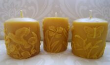 Handmade 100% Beeswax Candles - Springtime Pillar Gift Set
