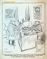 Grin & Bear It Original Comic Strip Art George Lichtenstein Cold War USSR