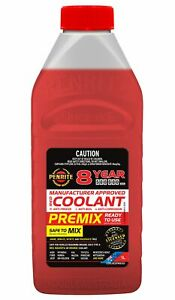 Penrite 8 Year 500,000km Red Coolant Premix 1L fits Fiat Punto 1.4 (55kw), 1....