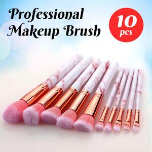 Professional Makeup Brush Set Foundation Blusher Cosmetic Make-up Brushes 10pcs
