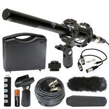Panasonic AG-3DA1 Camcorder External Vidpro XM-55 13-Piece Video Microphone Kit