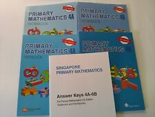 Singapore Primary Math Level 4 + Answer Booklet (US ED)-Textbook/Workbooks 4A+4B