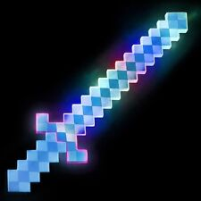 NEW COSPLAY LIGHT-UP DIAMOND PIXEL SWORD LED MOTION ACTIVATED SOUND FLASHING FX