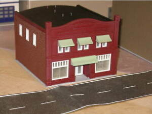 """(1) """" S """"  SCALE  MAIN ST.  DOWNTOWN BUILDING,  3D  PRINTED  L@@K  1/64  1:64"""