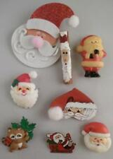 Vintage Lot of 8 Christmas Tree Santa Claus Pins Hallmark Raccoon