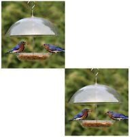 Paquet De Deux Transparent Recouvert Dôme Oiseau Graines Mangeoire Pour Petit