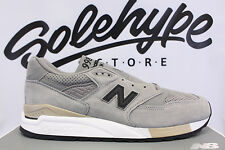 NEW BALANCE 998 MADE IN USA GREY BLACK BEIGE PERFORATED M998DTK SZ 8