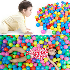 70MM Safty Secure Baby Kid Pit Toys Swim Colorful Soft Plastic Ocean Ball 50pcs