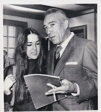 Vintage Press Photograph Anthony Quinn & Valentine Quinn (Daughter)