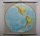 Schulwandkarte Wall Map Planiglobe Western Hemisphere Erdhälfte 65x66 1/8in