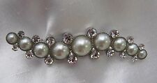 Deluxe Pearl and Diamante Long Stock Pin - Dressage Show