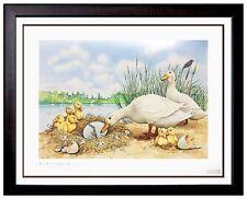 Michael Hampshire Ugly Duckling ORIGINAL Illustration Painting Framed Artwork