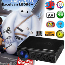 1080P FHD 5000 Lumens LED Mini Projector Multimedia Home Cinema Theater USB HDMI