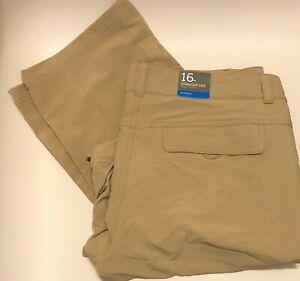 NWT Columbia Women's XK0783 Kestrel Trail Stretch Convertible Pants Khaki Sz 16