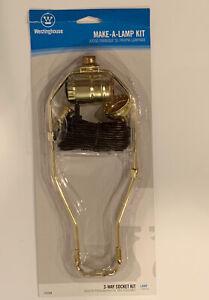 Westinghouse 70268  Make-A-Lamp 3-Way Socket Kit Socket, harp, cord set