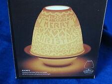 LLADRO MERRY CHRISTMAS LITHOPHANE VOTIVE LIGHT BRAND NEW IN BOX #18413 SAVE$ FS