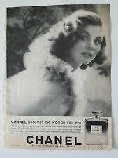 1959 Chanel No. 5 perfume becomes the woman you are fragrance ad