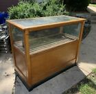 Antique Tobacco Cigar General Store Display Case Wood Glass 1900s