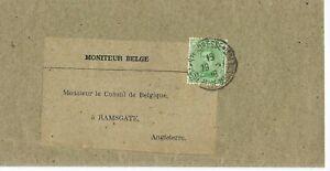 WW1 Wrapper Poste Belge Ste. Adresse Le Havre France to Belgium Consul Ramsgate