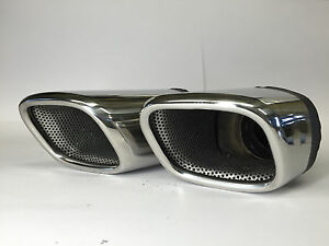 JE DESIGN Doppelauspuffendrohr  im SQ7 Look für Audi Q7 4M