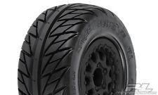 "Proline 116717 Street Fighter SC 2.2""/3.0"" Tires Mounted on Renegade Black Wheel"