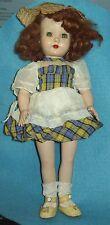 "Darling vintage Effanbee 13"" doll Original clothes, shoes, hat Sleepy Eyes Cutie"