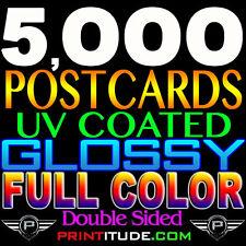 "5000 Full Color, 6.5""x9"" GLOSSY UV COATED, 2 SIDED POSTCARDS 6.5X9 EDDM"