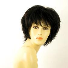 perruque femme 100% cheveux naturel courte noir ref CATE 1b