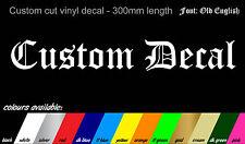 2x Old English Font Personalizado Nombre Stickers-Bicicleta Auto Van Truck 300mm