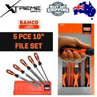 Bahco 1-143-10-1-2 Cut-1 Mill File with 2 Flat Edges Multi-Colour 10