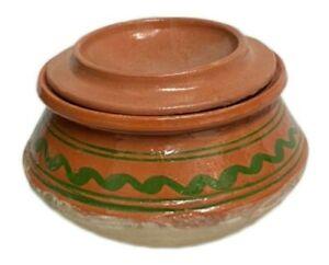 Clay Cooking Pot | 3kg Desi Handi Pot With Lid | Open Fire Gas Pot.