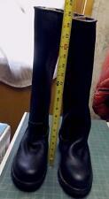 """Custom engineer/biker boots - black - 19"""" tall - size 10.5 US - new!"""