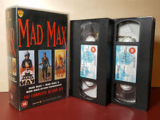 Mad Max 1,2,3, Trilogy - The Complete Action Set - Box Set PAL VHS Video Tapes