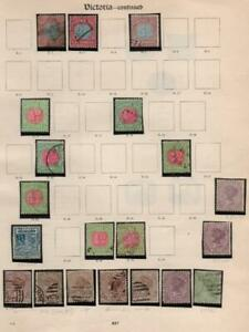 VICTORIA: Used & Postage Dues - Ex-Old Time Collection - Album Page (37679)