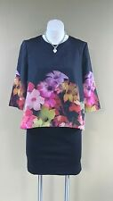 NWOT Ted Baker London CADIE Black Floral Zip Dress Size 2(US 6)