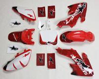 3M Decals Emblems Graphics Red Plastics CRF50 XR50 SSR SDG DHZ Thumpstar Bike #9