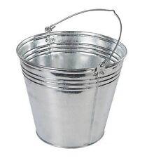 14l/24 Pintas Resistente Acero Galvanizado Cubo de metal agua, jardín, Carbón