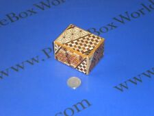 2 Sun 7 Step Yosegi (Koyosegi) SMALL Japanese Secret Trick Box + BONUS!