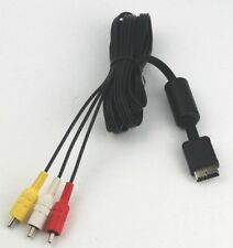 Official Sony PlayStation PS1 PS2 PS3 AV Cable - Audio Video lead - Tested