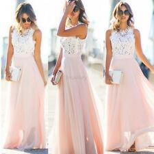 AU Formal Long Women Lace Dress Prom Evening Party Cocktail Bridesmaid Wedding