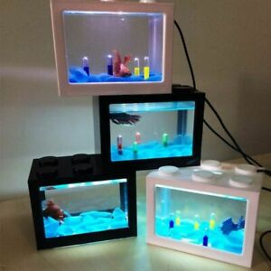 Mini Aquarium Led Light Lamp Home Office Small Usb Cable Fish Tank Cylinder Tool