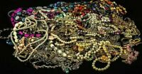 Unsorted Vintage Modern Jewelry Junk Craft Lot Pieces Parts Brooch Necklace ++
