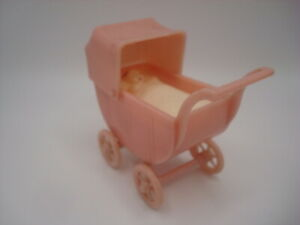 Vintage Renwal Dollhouse Furniture, Baby Stroller With Removeable Doll, Buggy