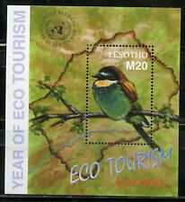 LESOTHO YEAR OF ECO TOURISM SHEET &  SOUVENIR SHEET  MINT NEVER HINGED