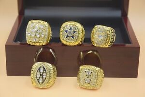 5pcs 1971 1977 1992 1993 1995 Dallas Cowboys Championship Ring -//