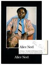 Alice Neel / Exhibition Invitation Signed by Neel 1981