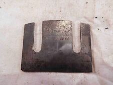 "Iron or Cutter Stanley No. 67 Spoke Shave ""J"" Trademark & Patent Date (F512)"