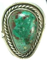 HUGE Navajo Apache Blue Turquoise Silver Ring Fred Harvey Era Native American s6
